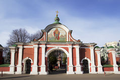 Moscow. The Church Of St. John The Warrior. The main entrance. Stock Photos