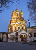 Moscow. The Church Of St. Nicholas. Stock Image