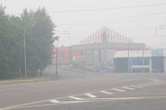 moscow ciężki smog Obrazy Royalty Free