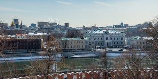 Staden beskådar av i stadens centrum Moscow. Royaltyfri Foto