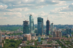 Moscow city 1. Moscow city - capital of Russian Federation. Aerial view stock image