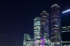 Moscow-city. By the light of the stars Royalty Free Stock Photography