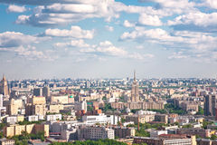 Moscow city 3. Moscow city - capital of Russian Federation. Aerial view royalty free stock image