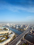 Moscow city. A panoramic view of the moscow city skyline Stock Photo