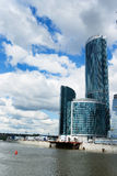 Moscow City 4. The huge construction site of the Moscow City highrise complex in Russia Royalty Free Stock Images