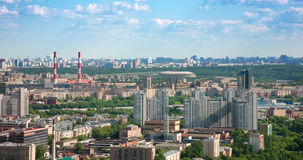Moscow city 4. Moscow city - capital of Russian Federation. Aerial view stock photos