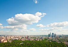 Moscow city 5. Moscow city - capital of Russian Federation. Aerial view royalty free stock images