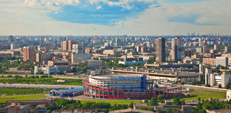 Moscow city 8. Moscow city - capital of Russian Federation. Aerial view royalty free stock images