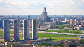 Moscow city 9. Moscow city - capital of Russian Federation. Aerial view stock image