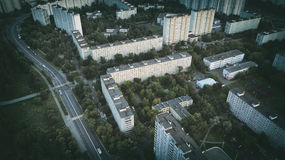 Moscow city from above. View from drone Royalty Free Stock Photography