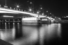 Moscow City bridge Royalty Free Stock Images
