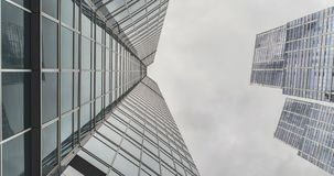 Moscow-city buildings in sky stock footage