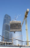 Moscow-city buisness district. Under construction. Russia Royalty Free Stock Image