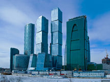 Moscow City business center. Stock Photos