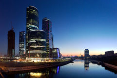 Moscow-city business center stock images