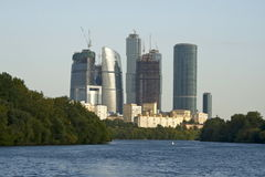 Moscow-city business center. Modern buildings of the International Business Centre under construction, Moscow, Russia Stock Photography