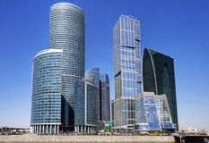 Moscow-city business center. Russia Royalty Free Stock Photos