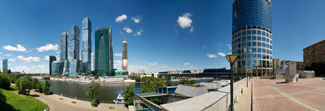 Moscow-city business center. Panorama, Russia Royalty Free Stock Image