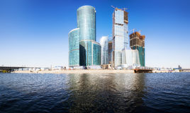 Moscow city business center. Panorama Stock Photos