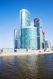 Moscow city business center. Wide angle view Stock Images
