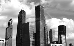 Moscow city business center background. Hd Royalty Free Stock Images