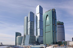 Moscow city business center. Moscow city. Complex of modern office buldings in the center of Moscow Royalty Free Stock Photos