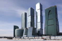 Moscow city business center Stock Photos