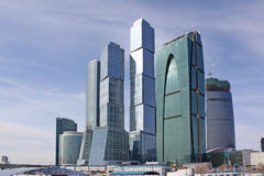 Moscow city business center Stock Images