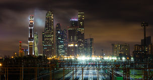 Moscow-city business center. Moscow International Business Center, Russia Stock Photography