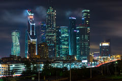 Moscow-city business center. Moscow International Business Center, Russia Royalty Free Stock Photos