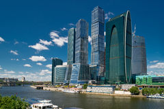 Moscow-city business center, Russia. The Moscow-city business center in Moscow, Russia Royalty Free Stock Image