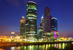 Moscow-city business center Royalty Free Stock Images