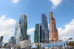 Moscow City Business Center Royalty Free Stock Photos