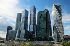 Moscow City business center, Russia. Moscow International Business Center is a commercial district in central Moscow, Russia Royalty Free Stock Photography