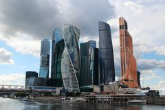 Moscow City business center, Russia. Moscow International Business Center is a commercial district in central Moscow, Russia Stock Images