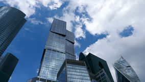 Moscow City business center. Sky above Moscow City business center Royalty Free Stock Photos