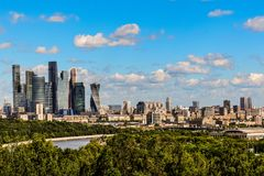 Moscow City, Business Center with skyscrapers royalty free stock images