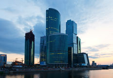 Moscow-city business center. View of Moscow. Moscow-city business center, Russia Royalty Free Stock Images