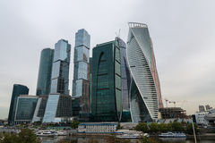 Moscow City business complex. Royalty Free Stock Photo