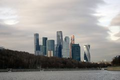 Moscow City business offices and apartments complex Royalty Free Stock Image