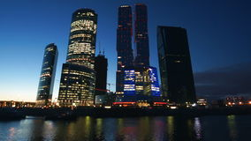 Moscow city stock video