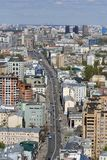 Moscow city center. Birds eye view. Stock Photography