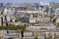 Moscow city center. Birds eye view. Stock Images