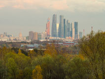 Moscow City and center Royalty Free Stock Photos