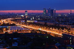 Moscow City complex Stock Image