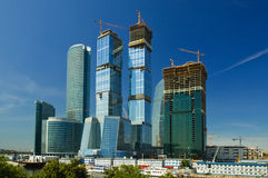 Moscow-city complex Royalty Free Stock Images