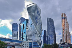 Moscow-city. Complex building and towers of business center Moscow-city stock photography