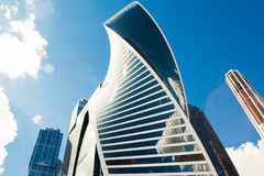Moscow-City complex of buildings against the sky. Russia Royalty Free Stock Photo