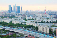 Moscow City complex and panorama of Moscow Stock Photography