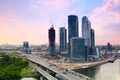 Moscow City complex of skyscrapers stock image